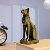 Retro Egyptian Cat Ornament Bronze Alloy Home Decorations Gift Collection Sculpture