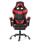 Ergonomiczne krzesło wyścigowe z wysokim oparciem Krzesło rozkładane Krzesło biurowe z regulacją wysokości Obrotowe krzesło wyciągowe PU Skóra Krzesło do gier Krzesło na laptopa z podnóżkiem