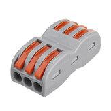 Excellway 3Pin Wire Docking Connettore Termainal Block Terminale rapido rapido SPL-3 Cavo elettrico Cavo Connettore Terminale 0.08-4.0mm²
