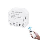 MoesHouse 90V-130V Wifi Interruptor de luz inteligente Módulo disjuntor diy Vida inteligente / Tuya APP Controle Remoto Funciona com Alexa Eco Eco Google Home Switch de 2 vias
