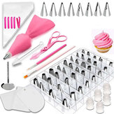 83pcs DIY Decoração do bolo Conjunto Bicos de confeiteiro Piping Tips Baking Mold Decorating Tools