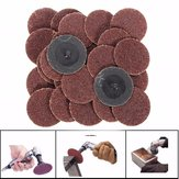 25pcs 2 Polegadas 24 Grit Roll Lock Sanding Disc com Pad Holder R-Type Abrasive Tool
