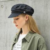 Vintage Cotton Cowboy Newsboy Hat