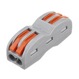 2Pin Wire Docking Connector Termainal Block Universal Quick Terminal Block SPL-2 Electric Cable Wire Connector Terminal Butt Joint Cable Connector 0.08-4.0mm²