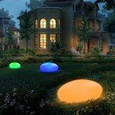 Solar Glow Kopfsteinpflaster Form Garten Dekor Licht im Freien RGB Rasen Licht mit Fernbedienung