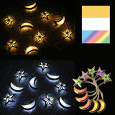 1.65M 3M Moon Star LED Fairy String Light Oil Holiday Lamp Ramadan Islam EID Party Decor