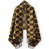 Katzenmuster mit Fransen Schal Schal
