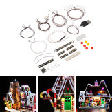 DIY LED Light String Kit Onderdeel voor Lego 10267 House Model Building Gingerbread Flash