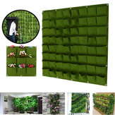 9-64 Pockets Plant Pot Felt Vertical Garden Hanging Green Wall Planters Pouch Bag