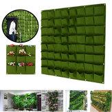 9-64 poches en pot de plante en feutre vertical jardin suspendu sac de poche de jardinières murales vertes