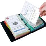 Deli 5778 Loseblatt-Visitenkartenhalter Einfach zu klassifizieren und zu installieren Desktop-Visitenkarte ID Card Storage Booklet Organizer