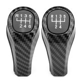 Car 5/6 Speed Carbon Fiber Color Manual Gear Shift Stick Knob For BMW E90 E91 E92 X1 X5 X3