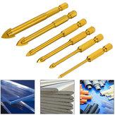 6Pcs 6-12mm Ceramic Tile Glass Drill Bit Set 1/4 Inch Hex Shank Triangle Head Drills