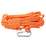 Outdoor Climbing Rope 8MM Diameter, 10M(32ft) Escape Rope With Hook Fire Rescue Parachute Rope Climbing Equipment