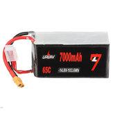 URUAV 14.8V 7000mAh 65C 4S Lipo Батарея XT60 Разъем для RC Дрон