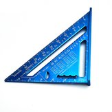 7 inch Metric Aluminum Alloy Triangle Angle Ruler Protractor Measurement Tool Blue