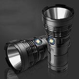 XANES P90 12800mAh Bateria Pack 4800LM 5Modes USB Recarregável LED Lanterna Ao Ar Livre IPX6 À Prova D 'Água 18650 Lanterna