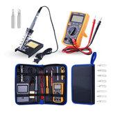 Handskit 110 V 220 V 60 W Multimetr cyfrowy Regulowana temperatura 21 sztuk Zestaw lutownicy elektrycznej