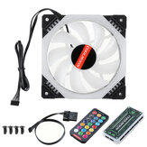 Computer PC Cooler Cooling Fan RGB LED Multicolor-mode 12cm Quiet Chassis Fan