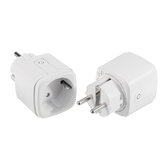 2 stks 15A EU DoHome HomeKit WiFi Smart Plug Home Power Switch Socket Outle 2.4 GHzNet Werkt met Alexa / Google Assistant Timer Geen Hub vereist