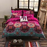 4Pcs/Set 1.5/2m Winter Bohemian Mandala Comforters Duvet Cover with Pillow Case Quilt Cover Bedding Set Home Bedroom