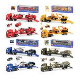 1:64 Mini lega veicolo di ingegneria scorrevole rimorchio bambino auto modellino giocattolo