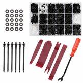 467 Pcs Rivet Attaches Retainer Push Pin Voiture Corps Pare-chocs Rivet Garniture Moulure De Retenue Clip Outils Kit