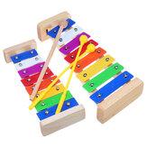 Jouet musical d'éducation de xylophone en bois de 8 notes pour des enfants