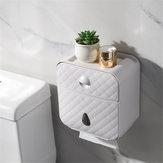 Bakeey ضد للماء المرحاض مربع الأنسجة هول الحرة الجرف الجدار شنقا سلال التخزين الإبداعي ل ذكي المنزل