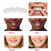 1 Pair Dentistry Cosmetic Covers Smile Comfort Veneers Flex Teeth Braces Upper +Bottom