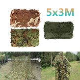 5x3m Car Cover Militaire Camouflagenet Jacht Woodland Army Training Camo Netting Auto Tent Schaduw Camping Zonnescherm Net
