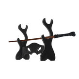 Black Acrylic Wizarding Wand Twig Display Stand Tool Holder for Wizard