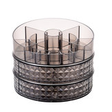 360 Degrees Rotating Cosmetic Storage Box Desktop Home Skin Care Organizer Storage Rack Dressing Table 1 / 2 Layers