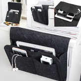 Felt Bedside Caddy Storage Bed Organizer Storage Phone Magazine TV Remote Control Holder Bag