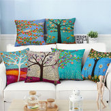 European Style Oil Painting Tree Cushion Cover Home Decor Throw Pillow Case