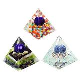Reiki Charged Emerald Clear Quarz Orgon Pyramide Leistungsstarke Dekorationen