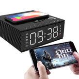 J21S Multifunctional Bluetooth Speaker Phone Wireless Charger FM Radio DIY Alarm Clock Music Record