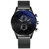 Soxy0163Meshståldekorativeurskive mænd armbåndsur