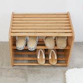 CHENGSHEシンプルな竹無垢材の靴収納ラックベンチから