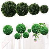 10-30cm Artificial Green Topiary Grass Hanging Ball Planta Decoraciones para el hogar