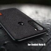Bakeey Luxury Fabric Splice Soft Silicone Edge Shockproof Protective Case For Xiaomi Redmi Note 8