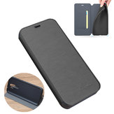 For Xiaomi Redmi Note 8 Pro Case Bakeey Flip with Stand Card Slot Full Body Brushed Leather Shockproof Soft Protective Case Non-original