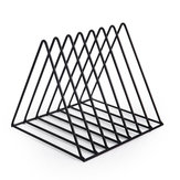 Nordic Triangle Simple Wrought Iron Home Decor Desktop Books File Storage Rack Shelf File Magazine jewelry office Storage Bracket Desktop Organizer