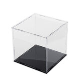 10/20/30cm Acrylic Display Case Box Dustproof Self-Assembly Model Protection