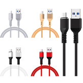 5V 2A Micro USB Fast شحن TPE Data Cable for Smartphone Tablet