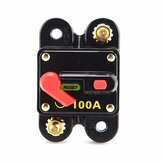 Car Switch Manual Reset Fuse holder Circuit Breaker 12V 100/150/200A Switch for Car SUV Boat Battery Manual Reset Switch