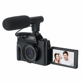 Filmadora KOMERY 4K Vlog Microfone de suporte para câmera digital Night Vision 30MP 16X para Tik Tok Youtube Live Streaming