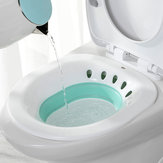 Foldable Hip Bath Tub Sitz Bath for Toilet Hemorrhoid Avoid Squatting Bath