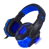 3.5mm USB filaire Gaming Headband avec LED Light Surround Stereo Headset pour XBOX PS4 Console de jeux