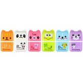 1 Piece Cute Cartoon Animal Roller Colorful Rectangle Eraser Rubber Students Stationery Kids Gifts School Office Correction Supplies